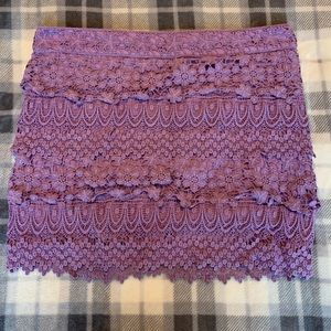 American Eagle lace tiered skirt